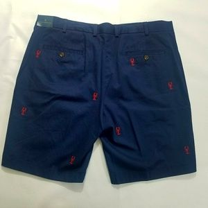 Brooks Brothers Blue Shorts 40 W Lobster Print